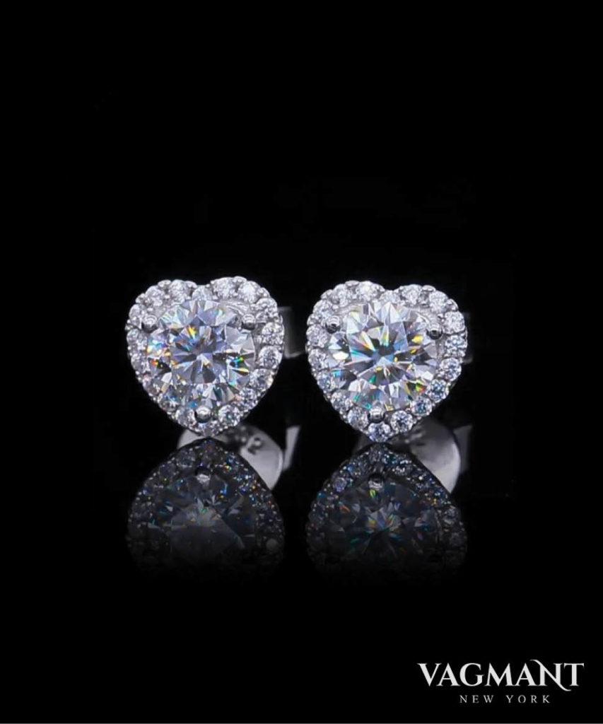 Vagmant® Amour Moissanite Earrings