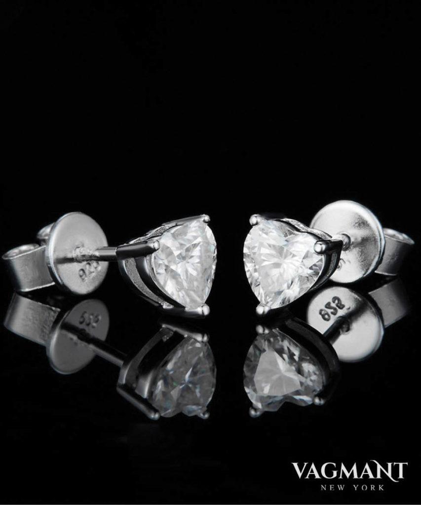 Vagmant® Épris En forme de coeur Moissanite Earrings